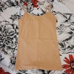 Forever21 Tan Tank Top Size Small Beige Cream